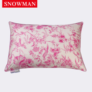 Printed Soft Fabric Cover White Duck Down Pillow