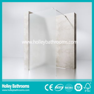 European Style Walk-in Door Colorful Glass Simple Shower Screen (SE716K) pictures & photos
