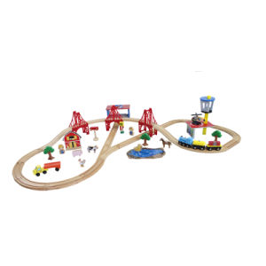 Village Train Set, Wooden Toy