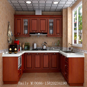 PVC Foil Kitchen Cabinet with Germany Quality (ZHUV factory) pictures & photos