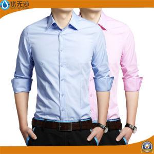 2017 Slim Fit Fashion Dress Shirt Cotton Button Shirt Men pictures & photos