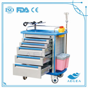 AG-Et001A1 ABS ISO&Ce Emergency Trolley Crash Cart pictures & photos