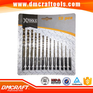 HSS Wood Milling Tool Bits, 13PCS Set 1/4 Steel Hex Shank Drill Bit pictures & photos