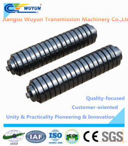 Alloy Steel Cushion Roller Idler for Belt Conveyor pictures & photos
