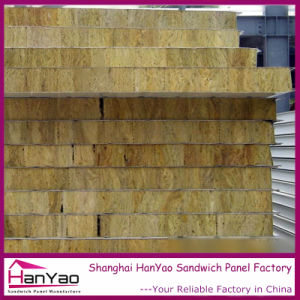 Customized Insulated Fireproof Cladding Rock Wool Wall Panel Rockwool Panel Sandwich pictures & photos