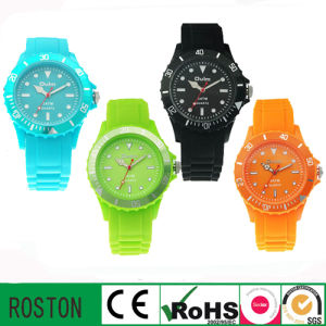 Customised Design Silicone Chrono Promotional Analog Watches pictures & photos