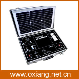 34W/17.5V Solar Panel Mini AC 110V /220V Portable Suitcase Style Solar Power Generator System 500watt Sp500A for Home/Outdoor Use pictures & photos