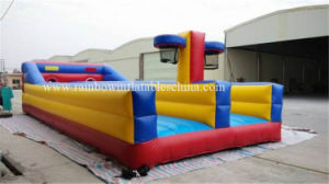 Two Lanes Inflatable Bungee Jump / Inflatable Bungee Run with Basketball pictures & photos