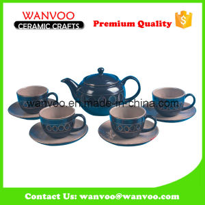 China Ceramic/Porcelain Tea Set with 4 Cups and Saucers pictures & photos