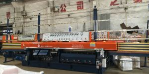 Automatic PLC 9 Spindles Glass Straight Line Edging / Edger Machine pictures & photos
