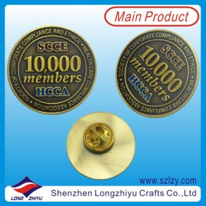 Antique Gold Plated Alloy Coin Badge for Souvenir (LZY-1000044) pictures & photos