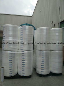 Hydrophobic Nonwoven Fabric Hygienie Raw Material PP Spunbond Roll for Diaper pictures & photos