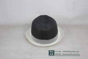 Trilby Paper Straw Hat (XH-PA2119) pictures & photos