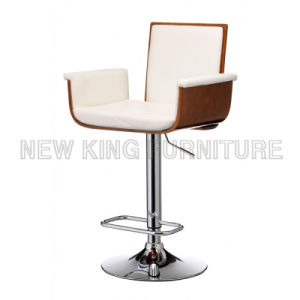 Tall Luxury PU Leather Chair Used Commercial Bar Stools (NK-BCB004) pictures & photos