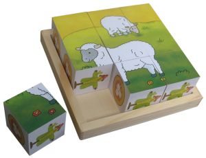 Educational Wooden Cube Puzzle Wooden Toys in a Tray pictures & photos