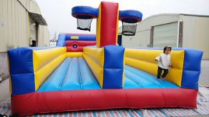 Acceptable Customized Size or Design Two Baskets Inflatable Bungee Run pictures & photos