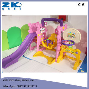 Indoor Kids Plastic Slide and Swing for Sale pictures & photos