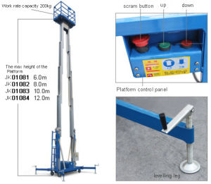 Factory Price for Dual-Mast Aluminum Alloy Aerial Work Platform pictures & photos