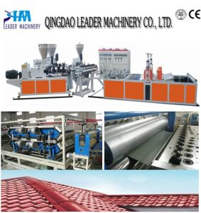 Double Layer Asa Glazed Tile Roofing Extrusion Line /Roofing Line pictures & photos