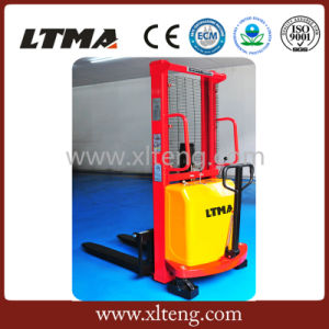 Capacity 1000kg-2000kg Half-Electric Power Pallet Stacker pictures & photos