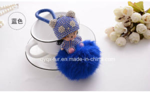 So Cute and Fashion Monchichi Fur Ball keychain pictures & photos