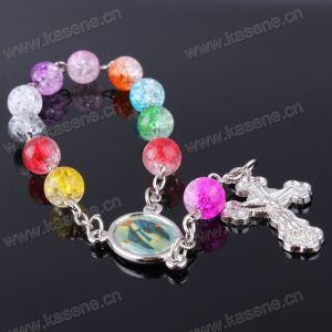 High Quality Handmade Lead and Nickle Free Colorful Beads Cross Brcaelet