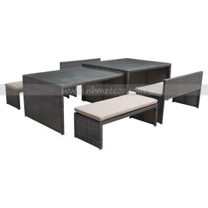 Mtc-230 PE Rattan Garden Dining Table Set Kd Style Outdoor Dining Set pictures & photos