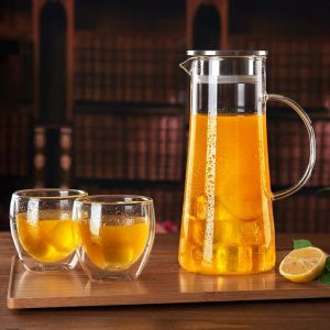 High Borosilicate Glass Tea Pot Glass Coffee Pitcher with FDA Certificate pictures & photos