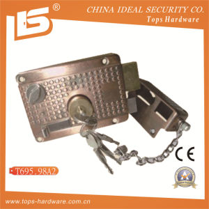 Security High Quality Door Rim Lock (T695.98A2) pictures & photos