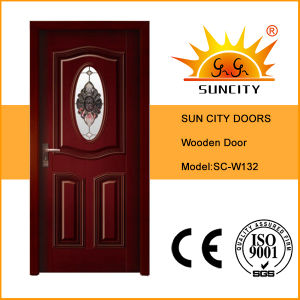 Modern Interior Wood Door with Glass Designs (SC-W132) pictures & photos