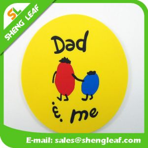 Householder Soft PVC Silicone Coasters in Round Shape (SLF-RC025) pictures & photos