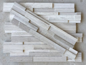 White Culture Stone Stacked Stone Veneer for Interior and Exterior House Decor pictures & photos