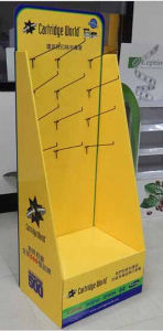 Paper Cardboard Counter Display Boxes Tabletop Display Box with Hooks pictures & photos