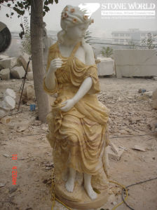 White/Beige/Gold Marble Statue, Figure Sculpture, Stone Carving pictures & photos
