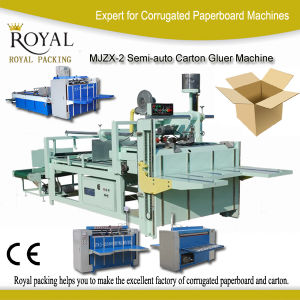China Semi-Auto Carton Gluer Machine for Sale pictures & photos