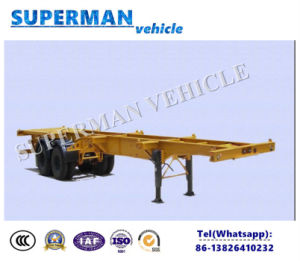 20FT Skeletal Frame Transport Chassis Semi Trailer for 20FT Container pictures & photos