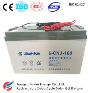 12V 100ah Energy Storage AGM Solar Battery (6-CNJ-100)