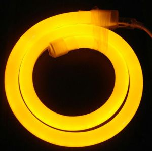 12V/24V/110V/220V Yellow LED Neon Flex Tube
