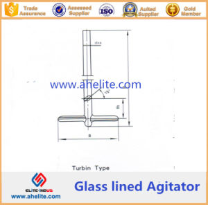 Turbin Type Glass Lined Agitator pictures & photos