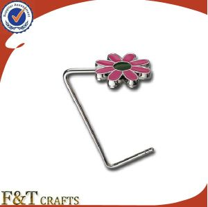 Promotional Custom Beautiful Flower Shape Metal Bag Hanger Hook pictures & photos