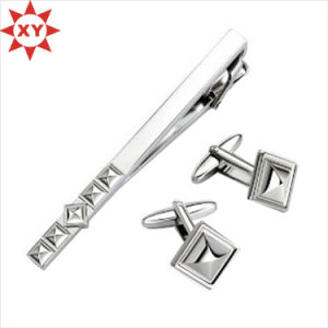 Shinny Silver Cufflinks and Tie Clip Sets for Gifts (XY-mxl91602) pictures & photos