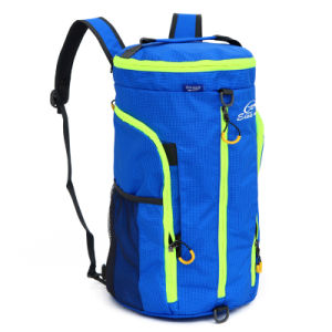 Waterproof Nylon Camping Shoulder Tote Backpack Barrel Duffel Bag (YKY7296) pictures & photos