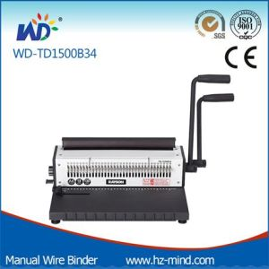 Manual Wire Binding Machine (WD-TD1500B34) pictures & photos