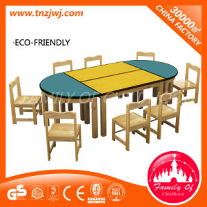 Preschool Table and Chairs Classroom Wooden Furniture pictures & photos
