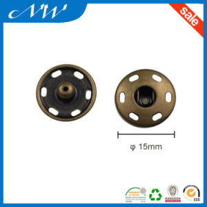 15mm Sewing Metal Snap Buttons in Round Shape