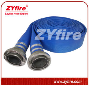 Zyfire Blue PVC Layflat Hose With Coupling pictures & photos