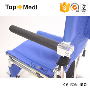 Topmedi Products 2016 Aluminum Foldable Lightweight Airplane Wheelchair pictures & photos