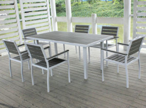 Aluminum Frame Polywood Dining Table and Chair pictures & photos