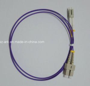 Fiber Patch Cord for LC-Sc Duplex Om4 Purple Cable (3m) pictures & photos