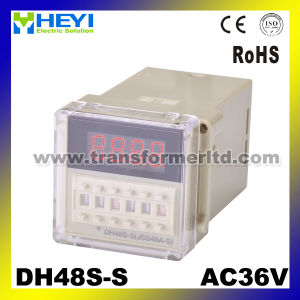 Cycle Delay AC220V 3A DC28V 5A Digital Timer Dh48s-S pictures & photos